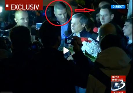 VIDEO Noi imagini de la INCIDENTUL cu garda SPP a premierului Dacian Cioloș de la Colectiv